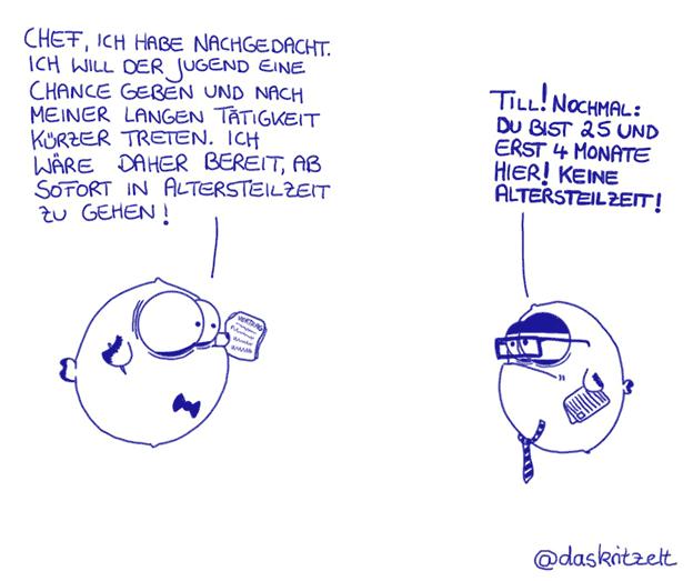 Altersteilzeit @daskritzelt