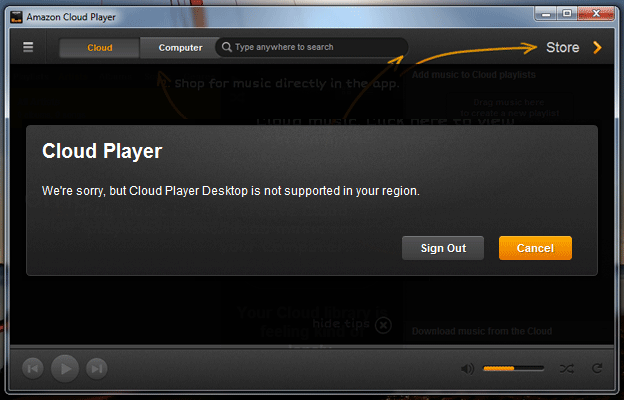 Amazon Cloud Player Desktop Client