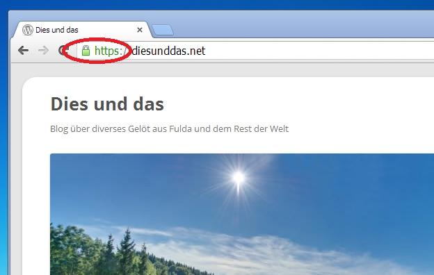 diesunddas.net SSL-Zertifikat