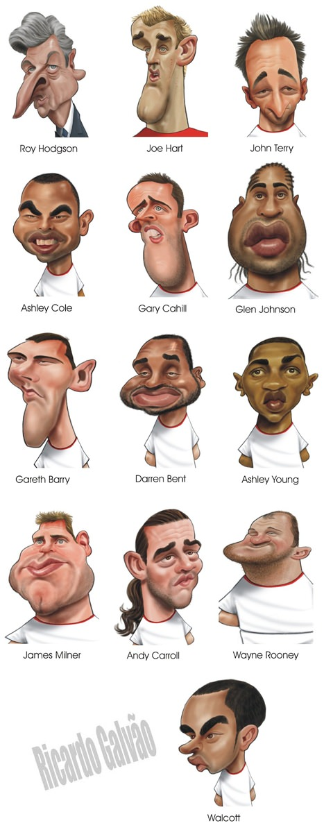 Karikatur England Europameisterschaft 2012 EM