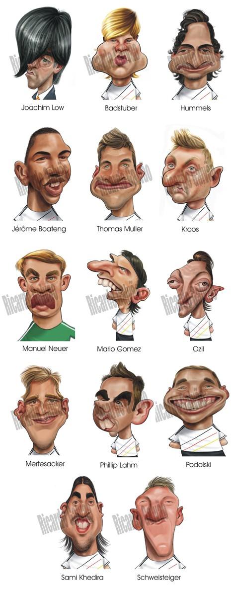 Deutschland Nationalmannschaft Karikatur Weltmeisterschaft