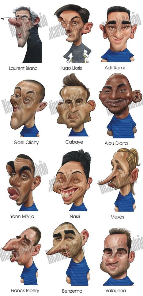 Frankreich Nationalmannschaft Karikatur