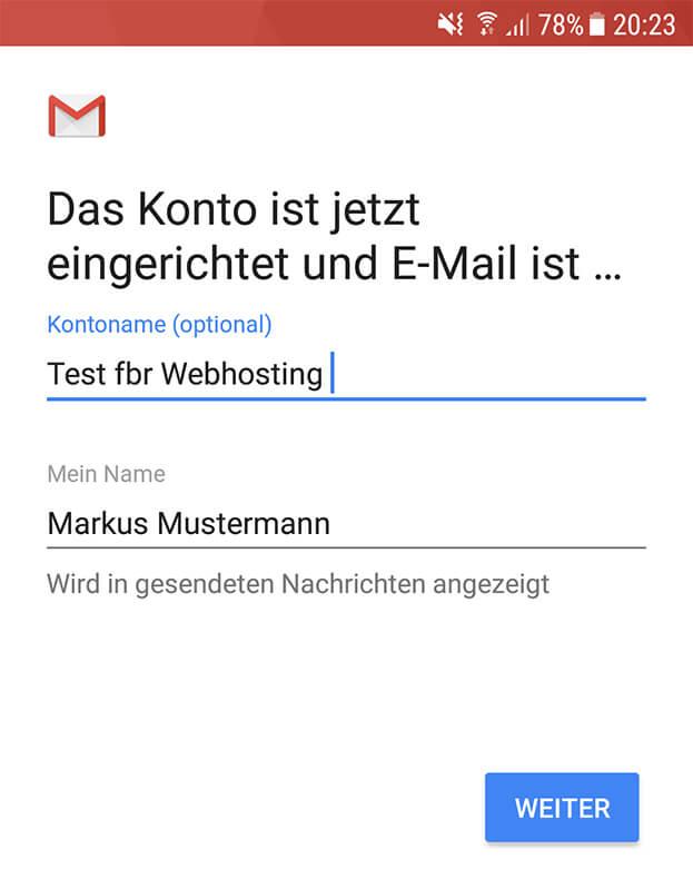Gmail App Email Absendername ändern