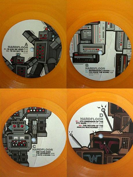 two guys three boxes hardfloor hflp03 limited orange vinyl
