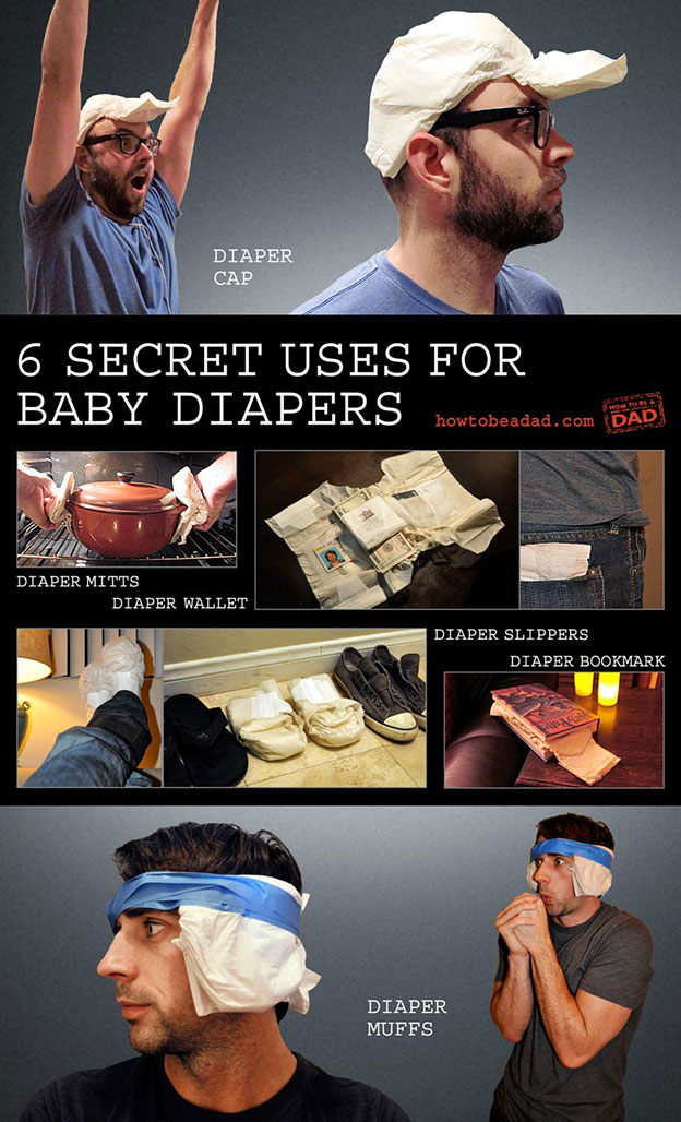 How to be a Dad 6 Secret Uses for Baby Diapers