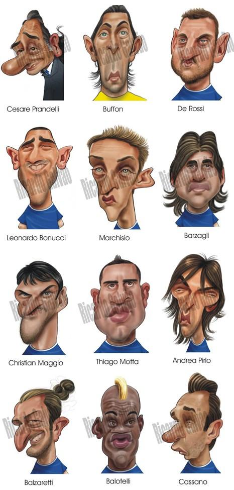 Karikatur Italien Europameisterschaft 2012 EM
