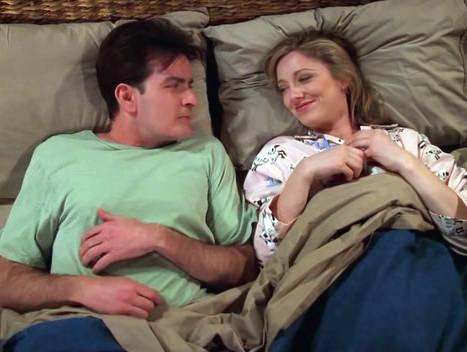 Charlie Sheen Judy Greer Two and a half Men
