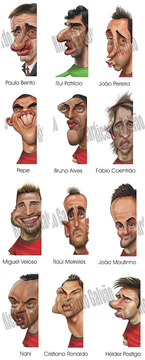Karikatur Portugal Nationalmannschaft