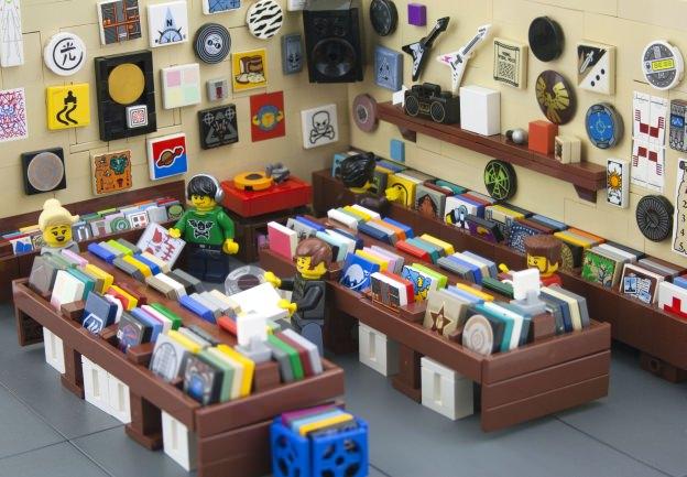 Lego recordshop Plattenladen