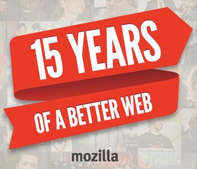 Mozilla 15 Jahre
