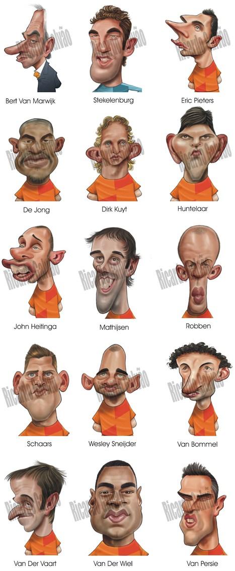 Niederlande Holland Oranje Karikatur Nationalmannschaft