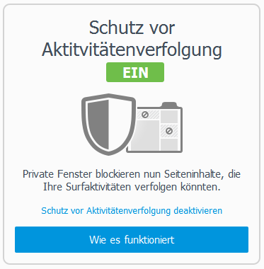 Schutz vor Aktivitätenverfolgung Firefox