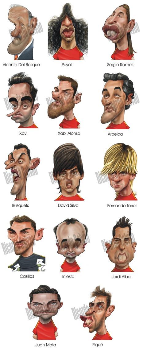 Spanien Karikatur Europameisterschaft 2012 Ricardo Galvao