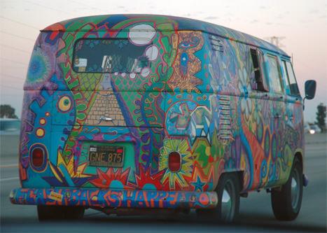 T1 VW Bus Bulli Hippie Farben