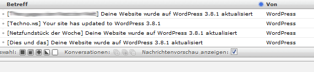 Wordpress automatisches Update
